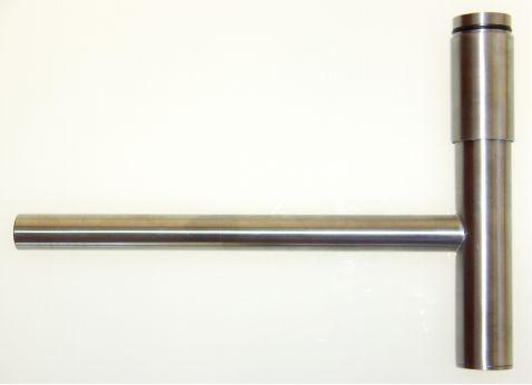 Selbsttragender Syphon in Edelstahl